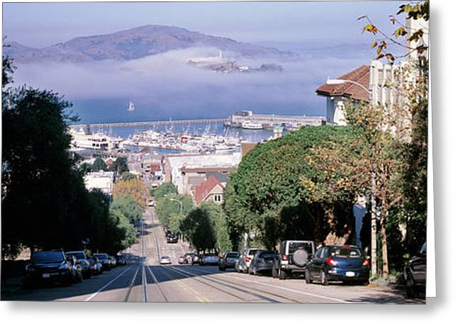 Street Scene, San Francisco Greeting Card by Panoramic Images