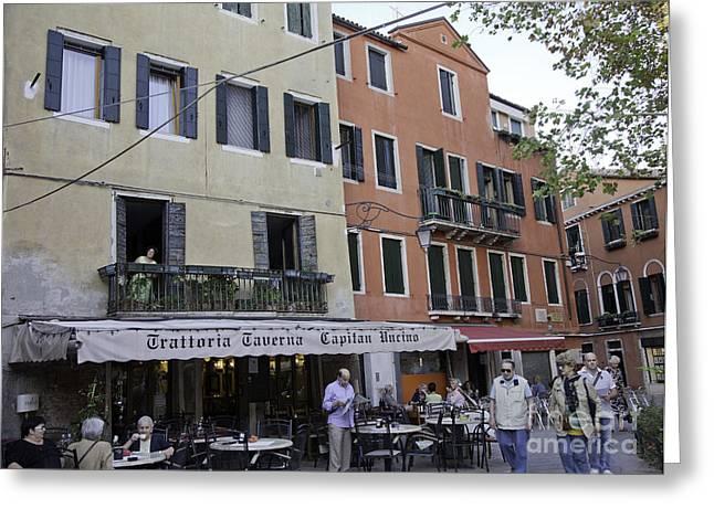 Street Scene - Venice Greeting Card by Madeline Ellis