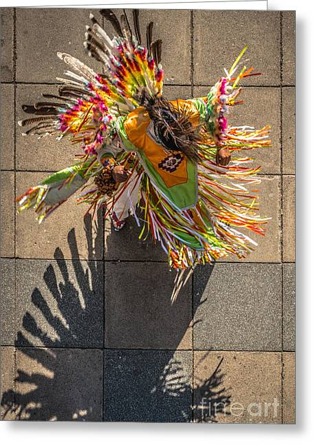Street Shadow Dancer Greeting Card by Ian Monk