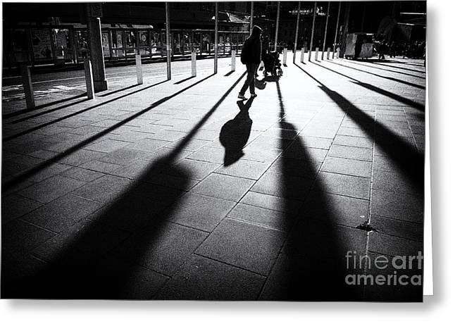 Street Shadow Greeting Card