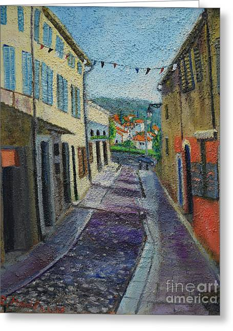 Street View From Provence Greeting Card