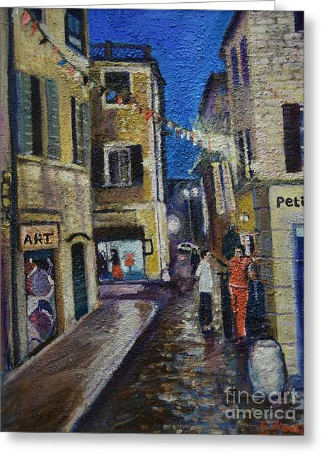 Street View Provence 2 Greeting Card