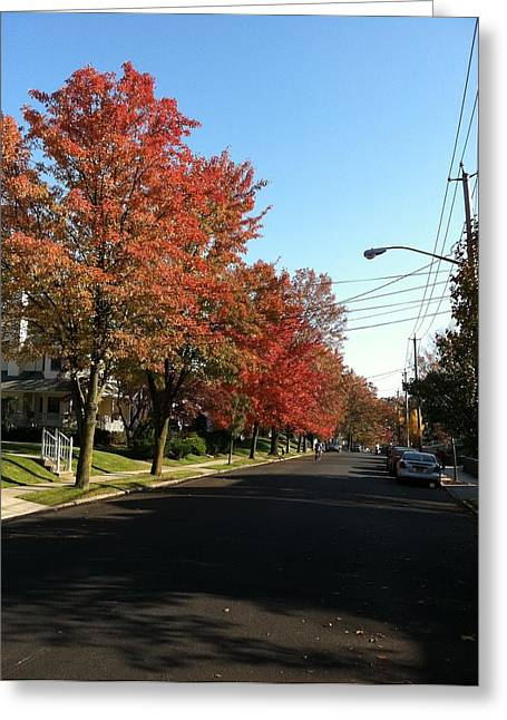Street View Staten Island Greeting Card by Kenneth Cole