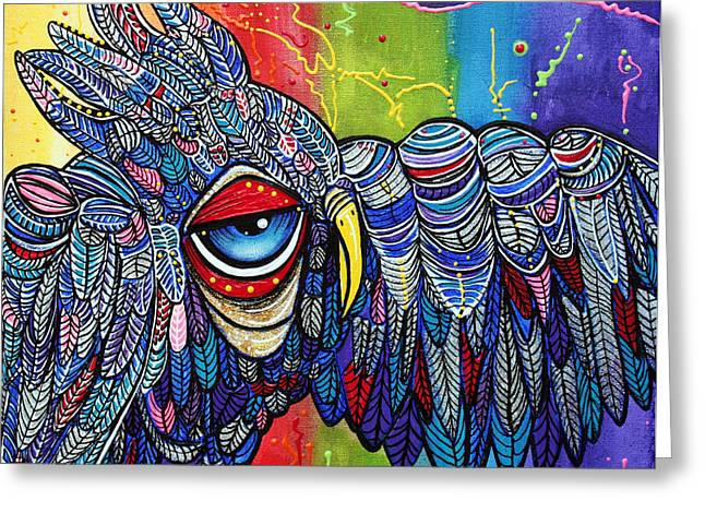 Street Wise Owl 2 Greeting Card by Laura Barbosa