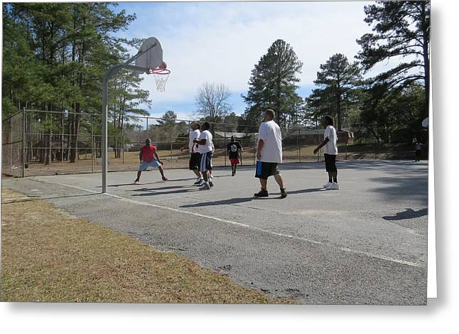 Streetball Greeting Card by Aaron Martens