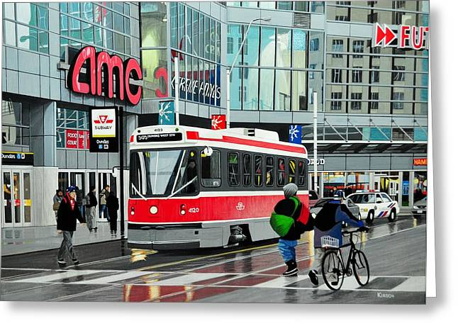 Streetcar On Dundas Greeting Card by Kenneth M  Kirsch