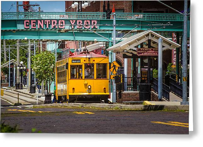 Streetcar Greeting Card by Ybor Photography