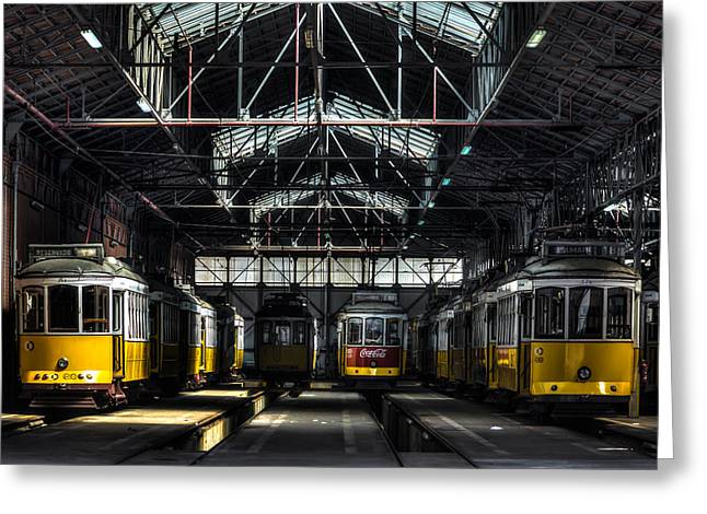 Streetcars I Greeting Card by Marco Oliveira
