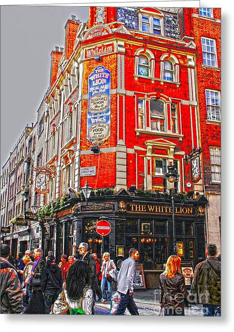 Streetlife In London Greeting Card