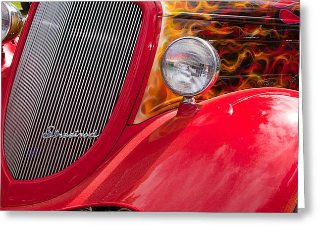 Streetrod Red Greeting Card by Mick Flynn