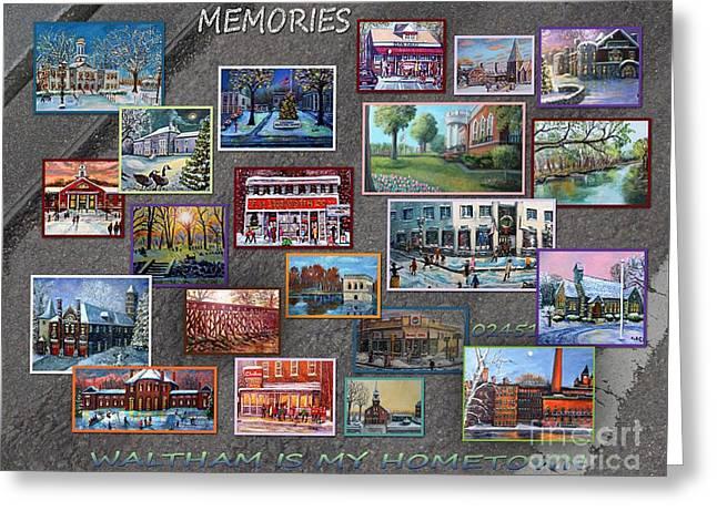 Streets Full Of Memories Greeting Card