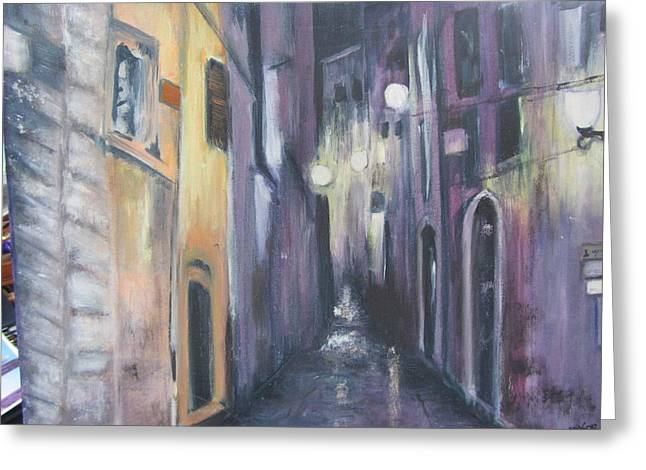 Streets Of Alatri Italy Greeting Card