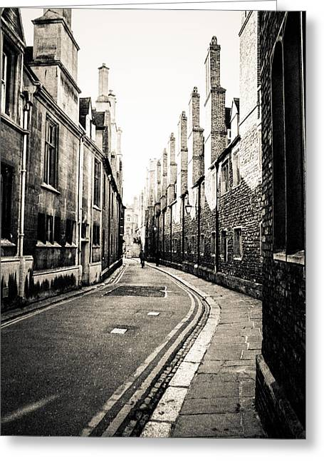 Streets Of Cambridge - For Eugene Atget Greeting Card by Ross Henton