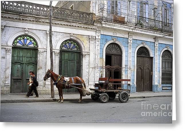 Streets Of Cienfuegos Greeting Card