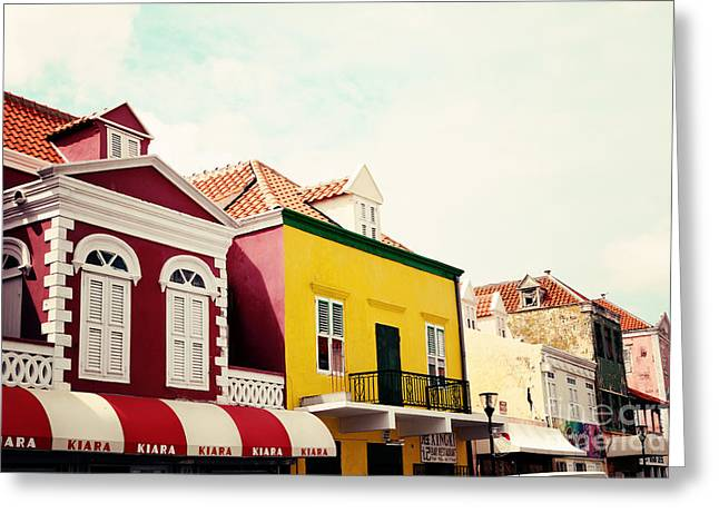 Streets Of Curacao Greeting Card by Kim Fearheiley