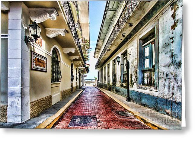 Streets Of El Casco Viejo 2  Greeting Card