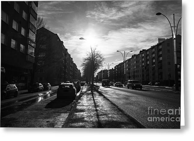 Streets Of Helsinki Greeting Card