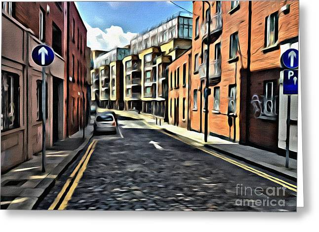 Streets Of Ireland Greeting Card