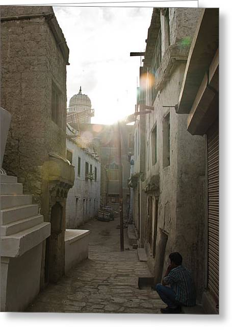 Streets Of Leh Greeting Card by Aaron Bedell