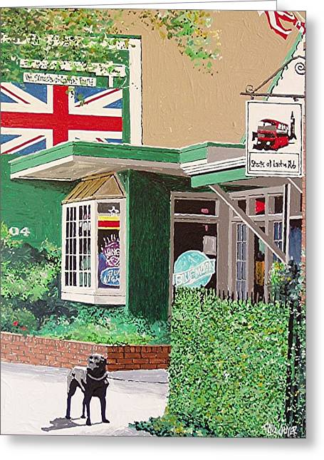 Streets Of London Pub Greeting Card by Paul Guyer