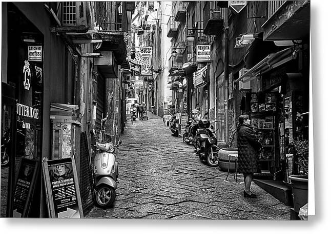 Streets Of Naples Greeting Card