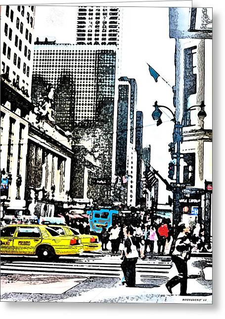 Streets Of Nyc 14 Greeting Card by Mario Perez