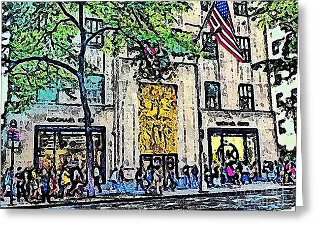 Streets Of Nyc 7 Greeting Card by Mario Perez