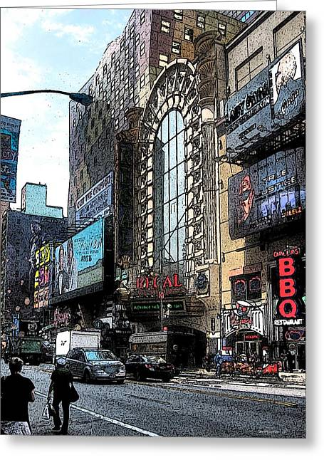 Streets Of Nyc11   Greeting Card by Mario Perez