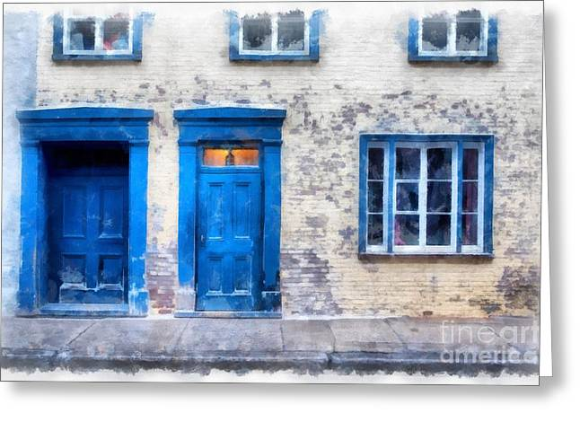 Streets Of Old Quebec 2 Greeting Card by Edward Fielding