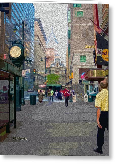 Streets Of Philadelphia Greeting Card by Garland Johnson