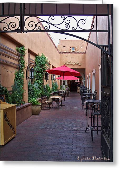 Greeting Card featuring the photograph Streets Of Santa Fe by Sylvia Thornton