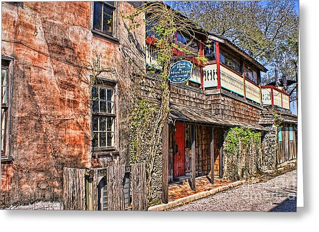 Greeting Card featuring the photograph Streets Of St Augustine Florida by Olga Hamilton