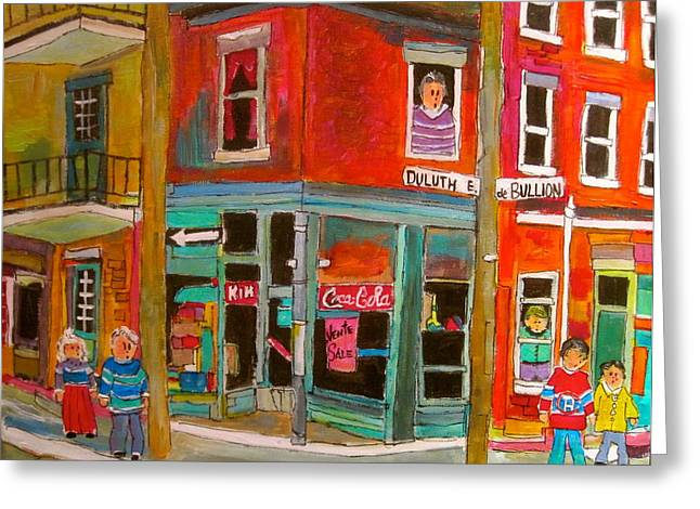 Streets Were Paved With Gold Greeting Card by Michael Litvack