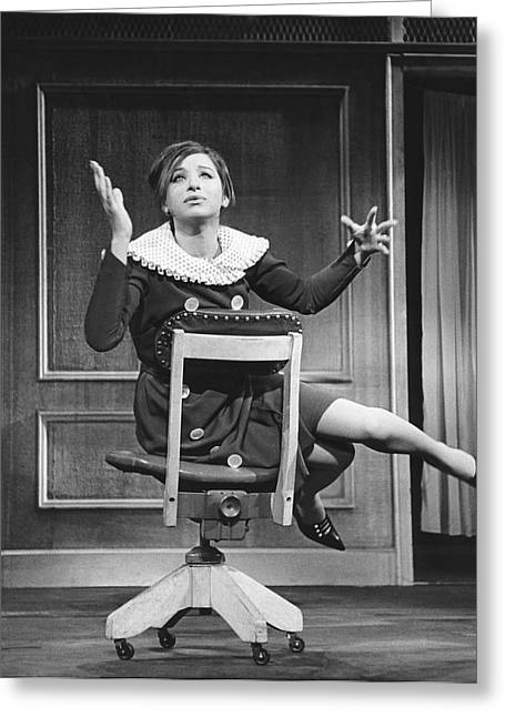 Streisand Broadway Debut Greeting Card by Underwood Archives
