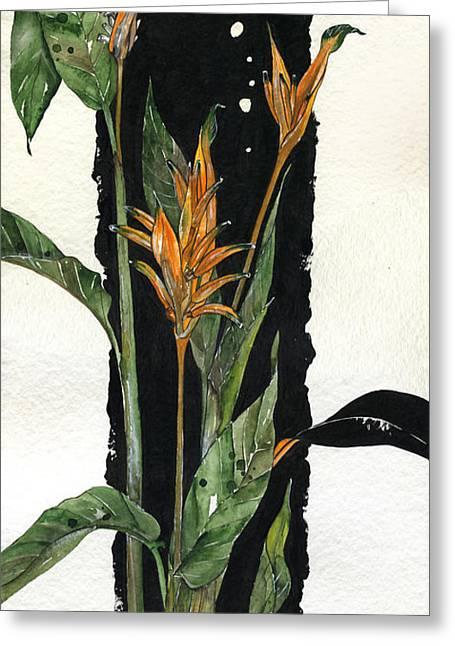 Strelitzia - Bird Of Paradise 12 Greeting Card by Elena Yakubovich