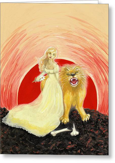 Strength Greeting Card by Lise Slinky