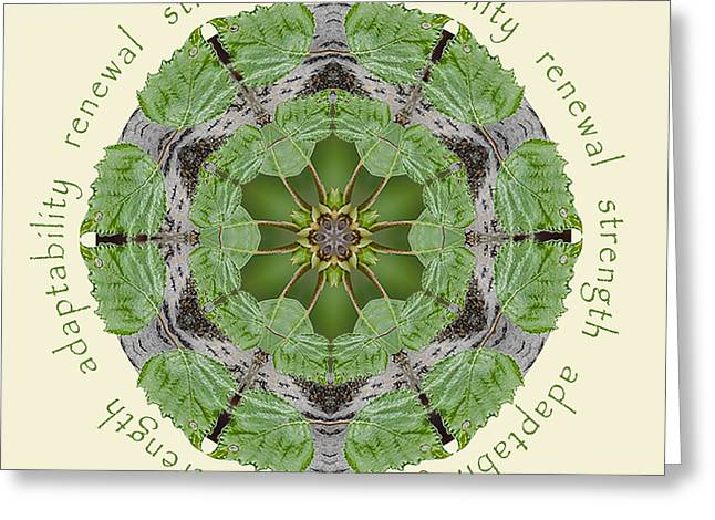 Strength Mandala 1 Greeting Card