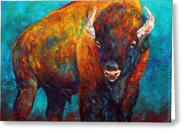 Strength Of The Bison Greeting Card