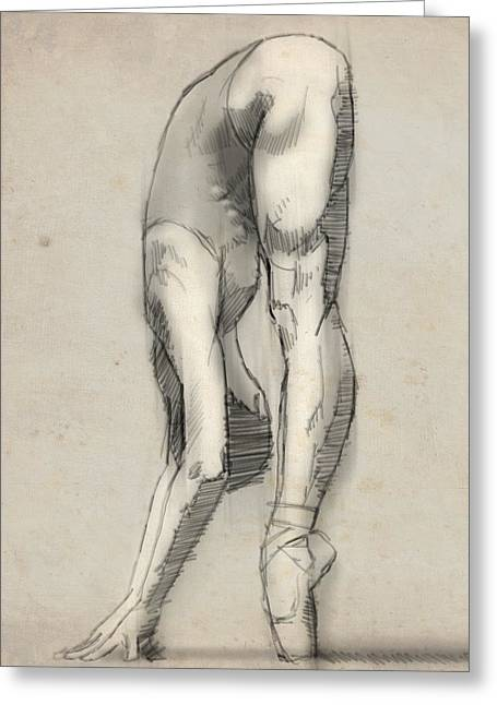 Stretch En Pointe Greeting Card by H James Hoff