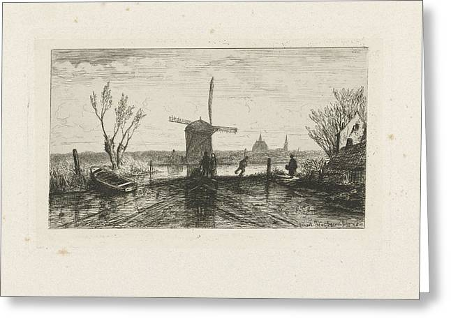 Strider In A Mill, Joseph Hartogensis Greeting Card by Joseph Hartogensis