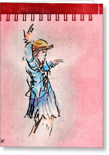 Striking A Pose Greeting Card by William Rowsell