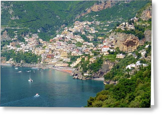 Striking Beauty Of Positano Greeting Card