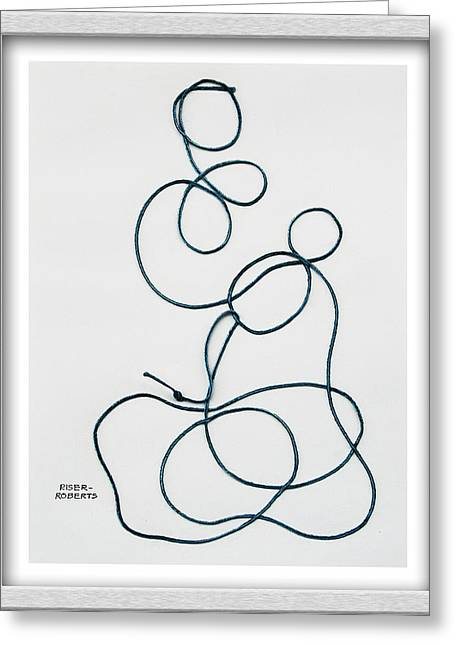 String Along With Me Greeting Card by Eve Riser Roberts