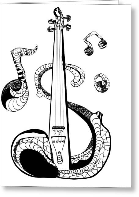 Strings Greeting Card