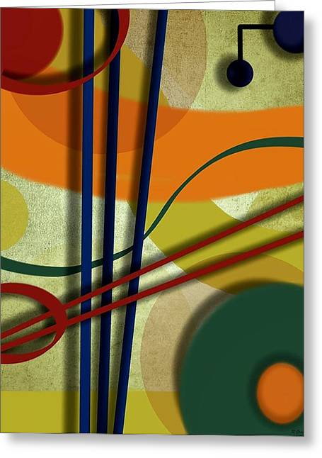 Abstract Strings Greeting Card