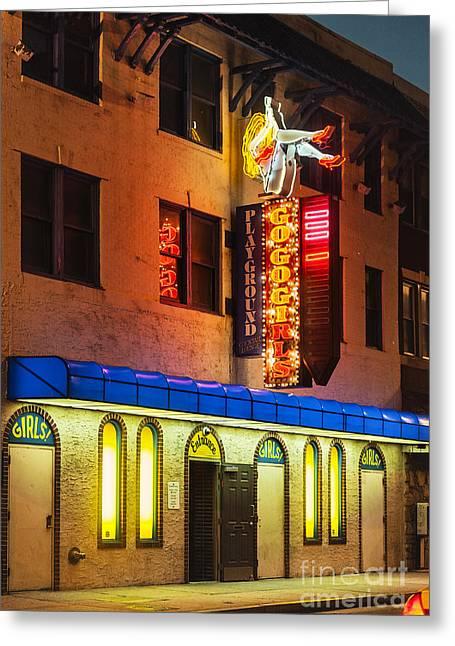 Strip Club Greeting Card by John Greim