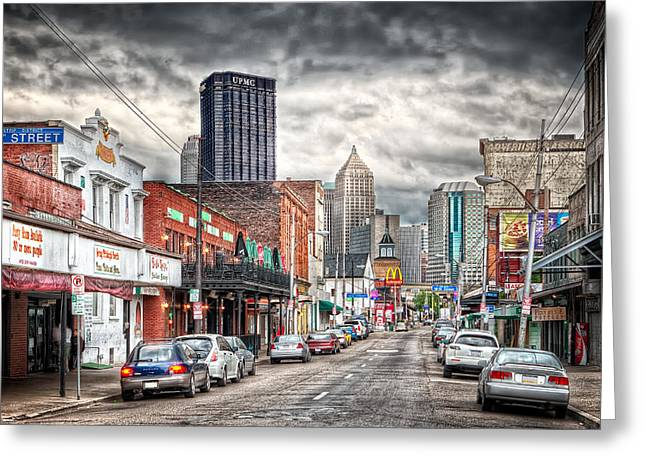 Strip District Pittsburgh Greeting Card by Emmanuel Panagiotakis