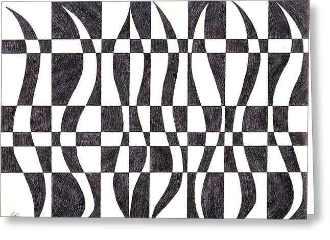 Striped Greeting Card by Eric Forster