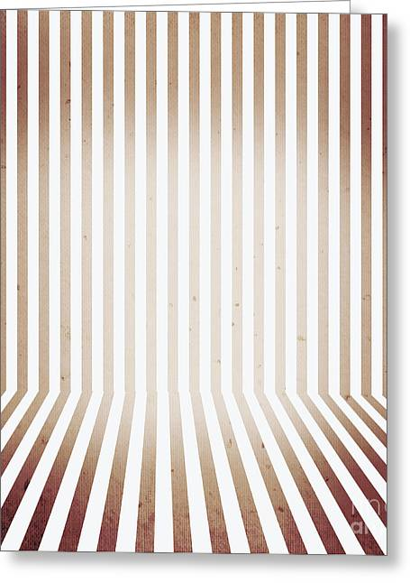 Striped Retro Wallpaper. Interior Background Greeting Card by Jorgo Photography - Wall Art Gallery