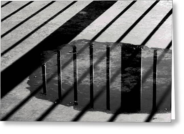 Stripes And Reflections 1 Greeting Card by Arkady Kunysz